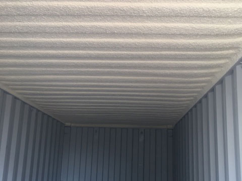 insulated roof of a container