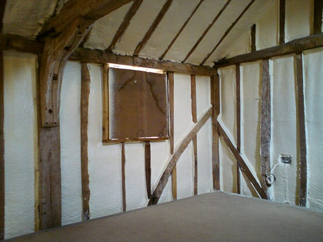 timber framed house insulation