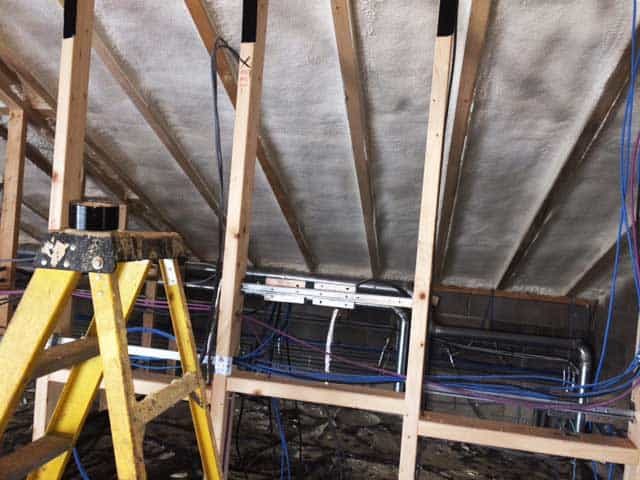 barn conversion roof insulation after