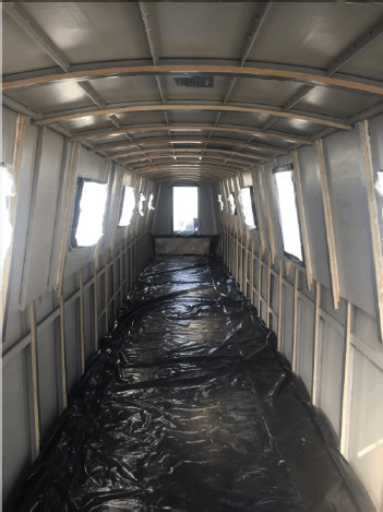 narrow boat spray foam insulation case study before