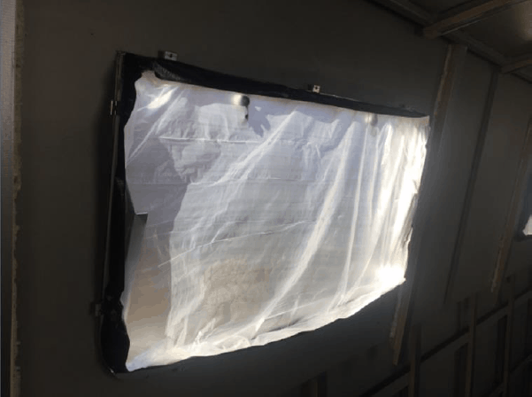 narrow boat spray foam insulation window prep