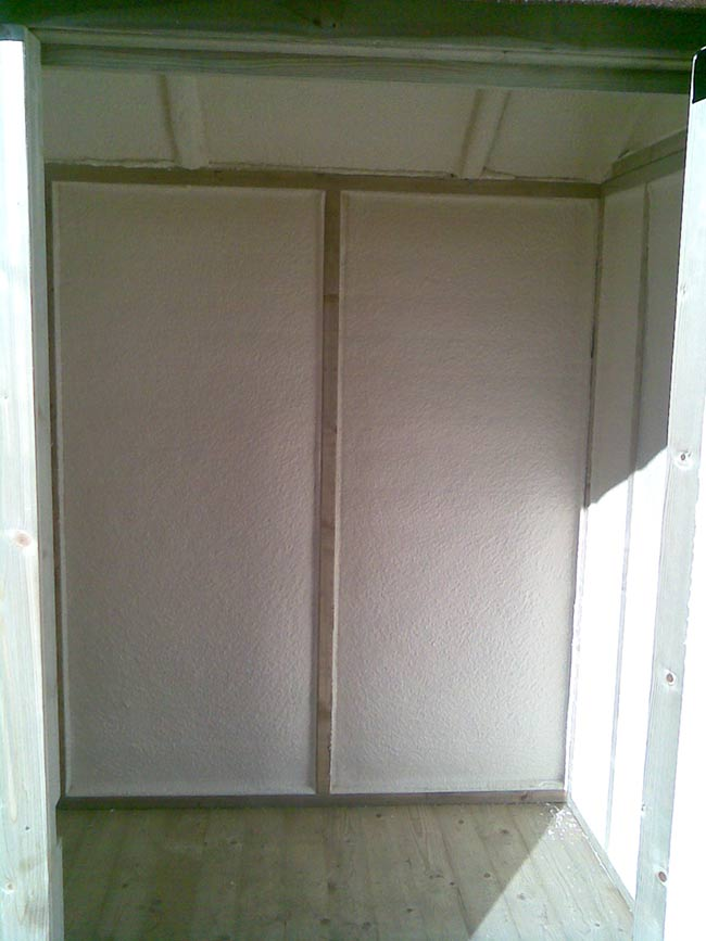 Insulated shed interior