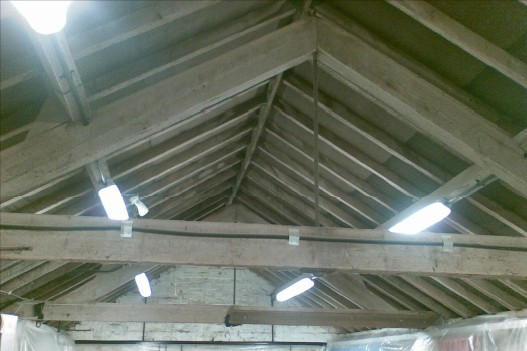 workshop roof spray foam insulation case study before-close-up