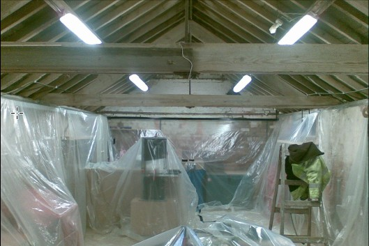 workshop roof spray foam insulation case study before